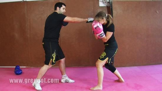 Boxe exercice esquive
