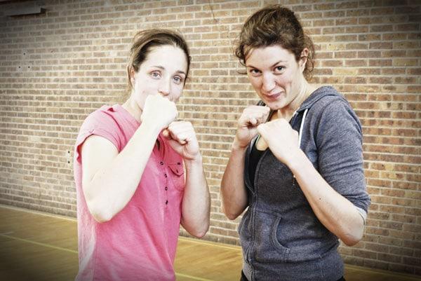Hélène et Julie combattante Sanda Boji Boxe Chinoise