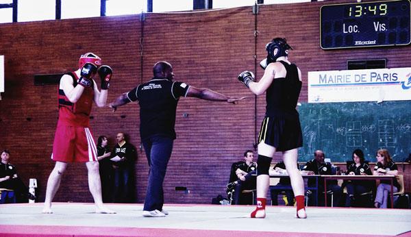 Combat Sanda Boxe Chinoise Boji Championnat France 2012