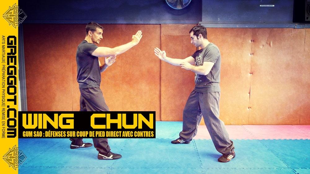 Wing Chun – Cours Express : défense sur coup de pied direct