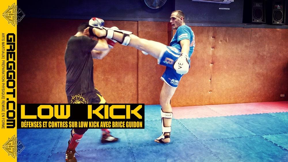 Boxe Thaï : défenses sur low kick avec Brice Guidon