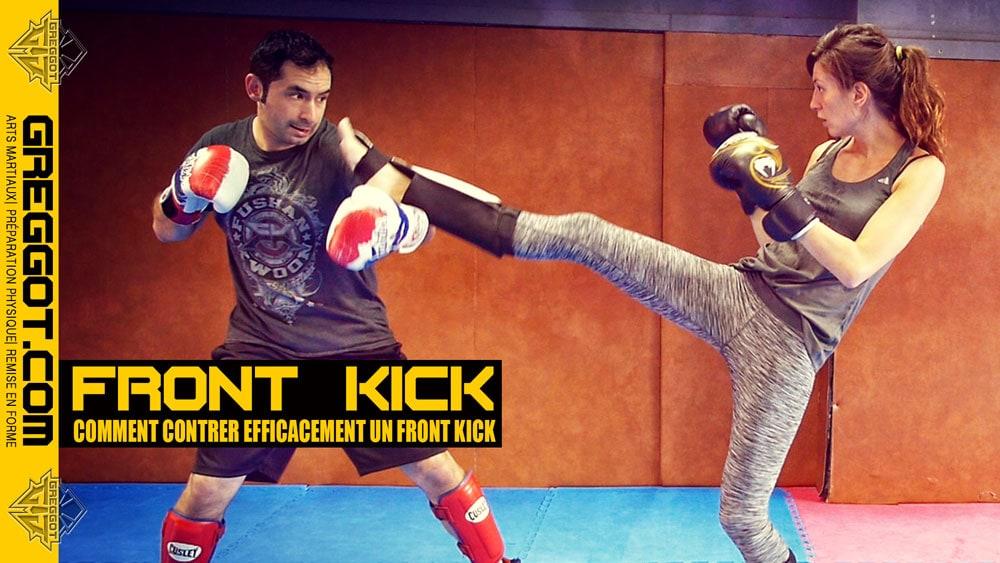 Sports de Combat : comment contrer un FRONT KICK ?