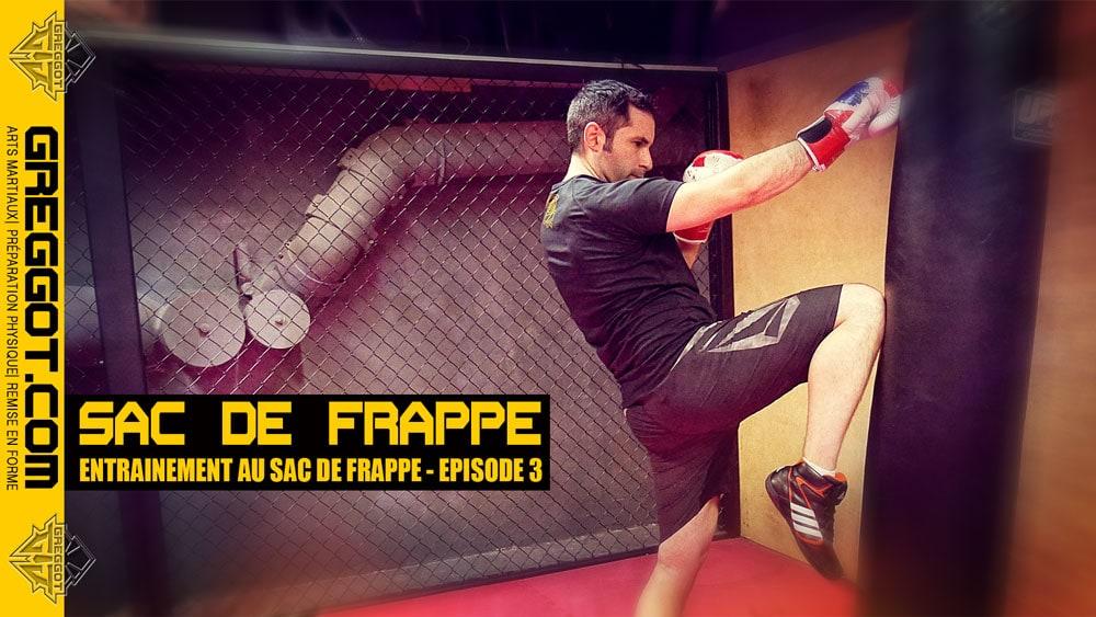 Boxe-Entrainement-Sac-Frappe-Genou-Episode-35-Middle-Kick-Genou-Low-Kick