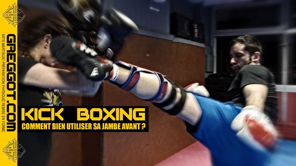 Kick-Boxing-Utiliser-Jambe-Avant