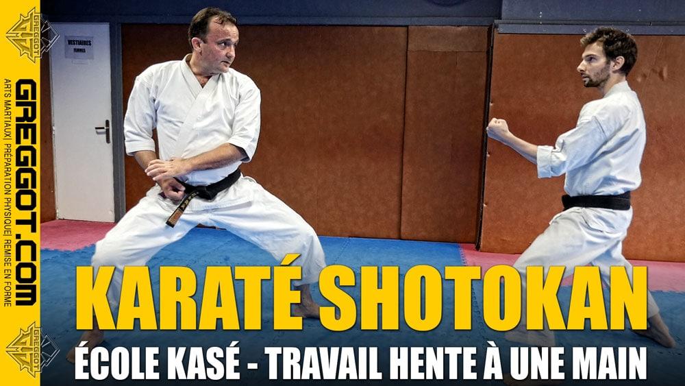 Karate-Shotokan-Travail-Hente-Kase