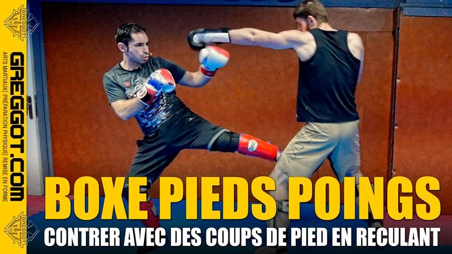 Kick Boxing : Coups de Pied en reculant