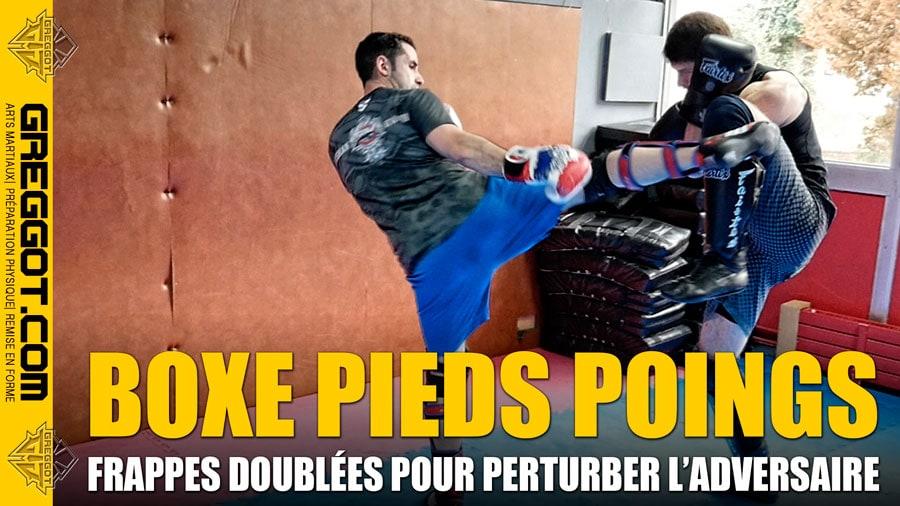 Boxe Pieds Poings : Perturber son adversaire avec des frappes doublées