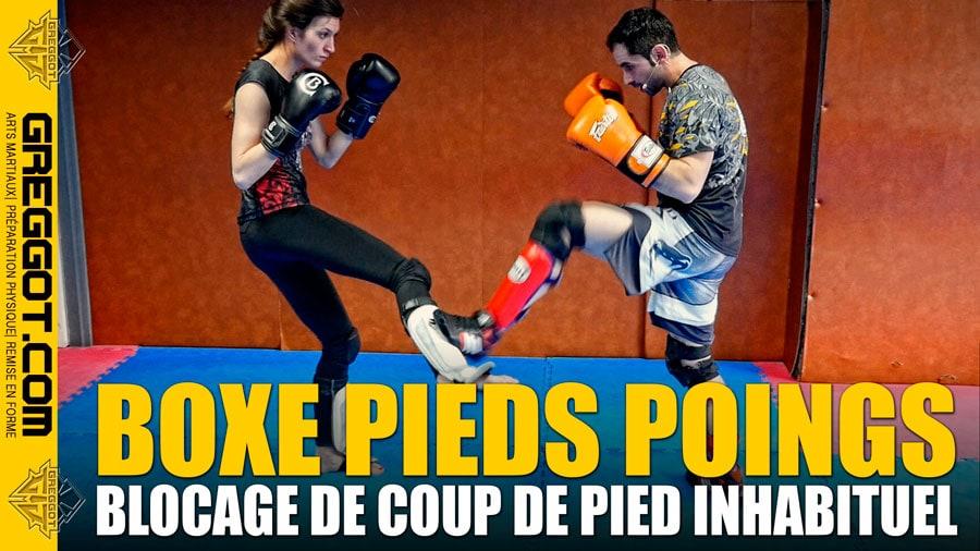 Boxe Pieds Poings : Blocage de Coup de Pied Inhabituel