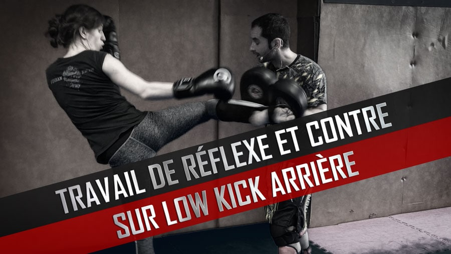 Boxe-Pieds-Poings-Reflexe-Contre-Low-Kick-Arriere