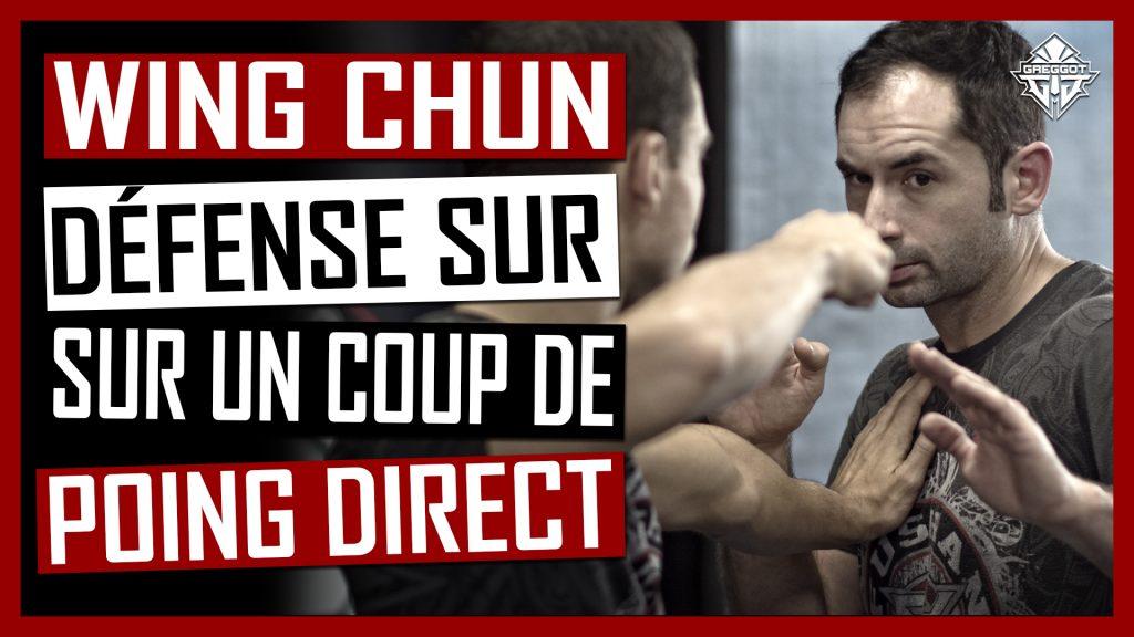 WING CHUN TECHNIQUES : DEFENSE SUR COUP DE POING DIRECT