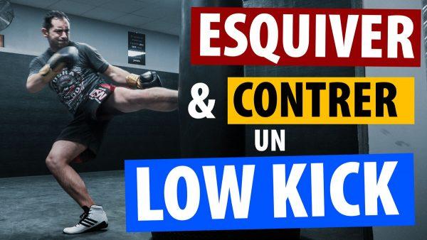 TUTO KICK BOXING: ESQUIVER & CONTRER UN LOW KICK | #COMBOCARDIO